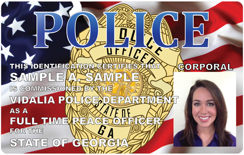 The Police And Sheriffs Press Photo Id Cards