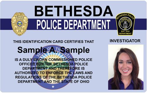 The Police And Sheriffs Press Custom Photo Id Card