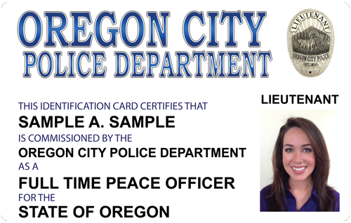 The police and sheriffs press custom photo id card.