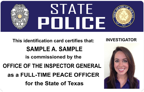 The police and sheriffs press custom photo id card once we receive your final approval we send you the template design so you can begin ordering cards this service is available for a 150 setup fee altavistaventures